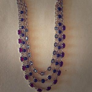 Ann Taylor 3 strand gem necklace.